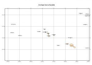 Atlas de Polynésie : Archipel de la Société