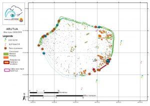 Atlas de Polynésie : Arutua au 28/03/2018