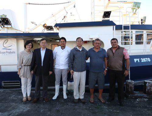 L'association du peuple chinois pour l'amitié avec l'étranger  visite le port de pêche de Papeete