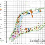 Carte de l'atoll de Ahe au 09-10-2018
