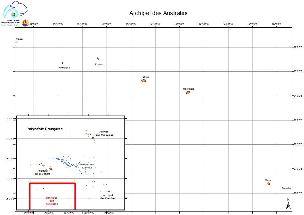 Atlas de Polynésie : archipel des Australes