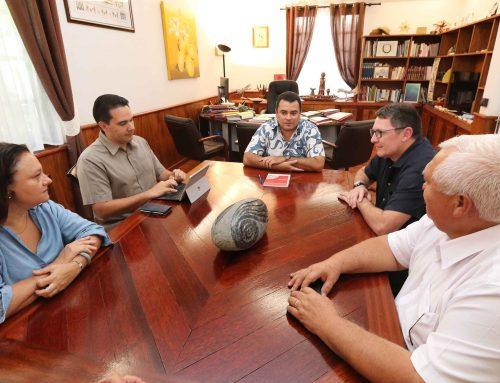 Le Vice-président rencontre Alban Salmon, directeur de l'École nationale supérieure maritime
