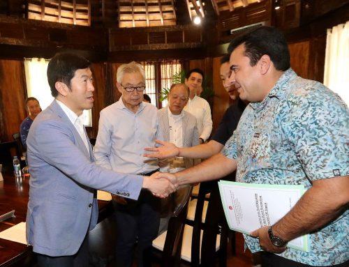 Le Vice-président reçoit une délégation de Tahiti Pearl Promotion Society of Japan