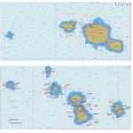 Cartes du parc des DCPs en Polynésie française, juin 2020