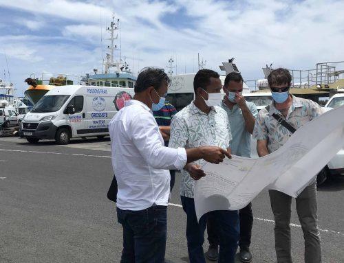 Visite du Vice-président M. Tearii Alpha au port de pêche de Papeete