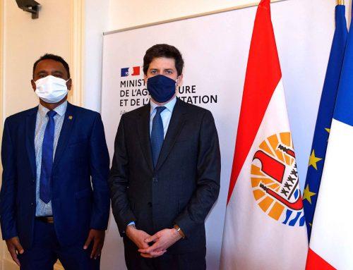 Tearii Alpha reçu par Julien Denormandie au ministère de l'Agriculture